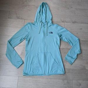 The North Face teal zip up hoodie medium